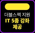 더블스펙 지원 IT 5종 강좌 제공