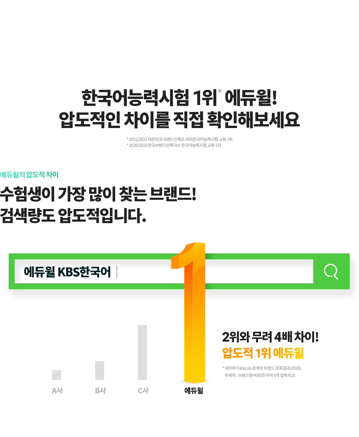 한국어능력시헙 1위 에듀윌 압도적인 차이를 직접 확인해보세요